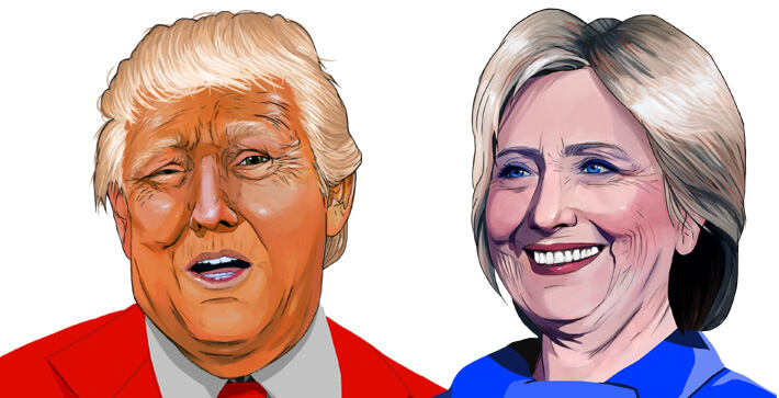 Donald Trump and Hillary Clinton (Illustration/Megan Maniago)