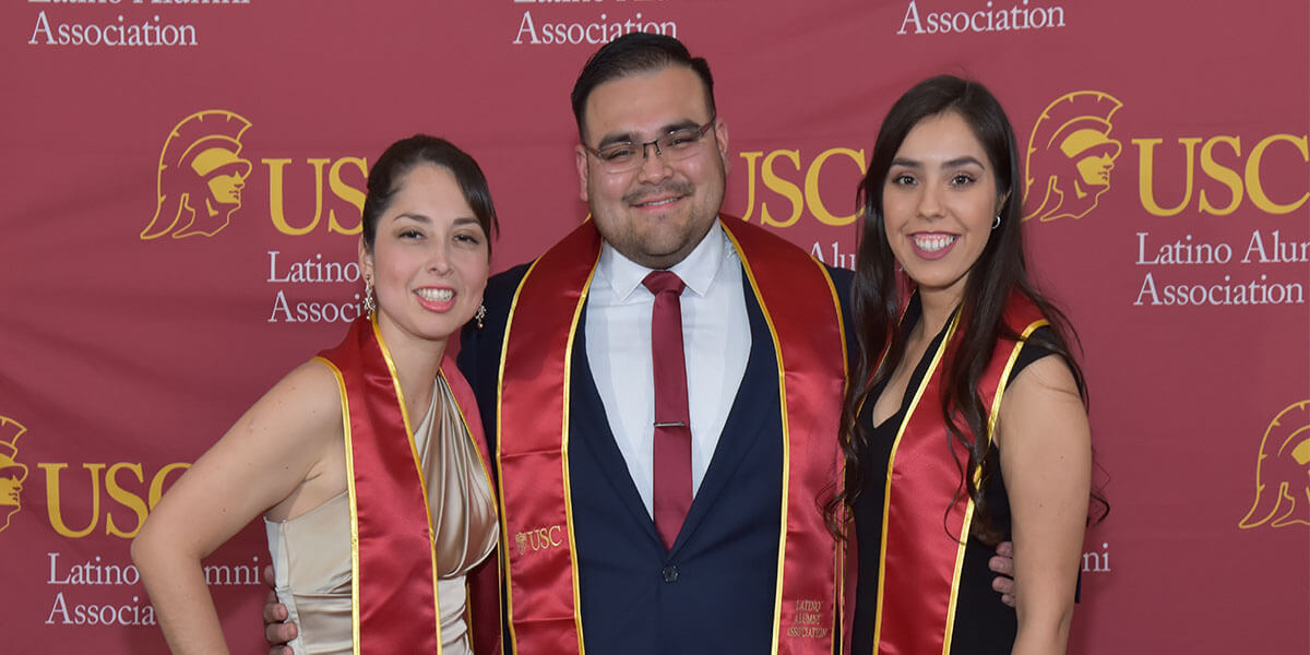 Three USC Viterbi engineers recognized at Latino Alumni Association's 44th annual scholarship gala