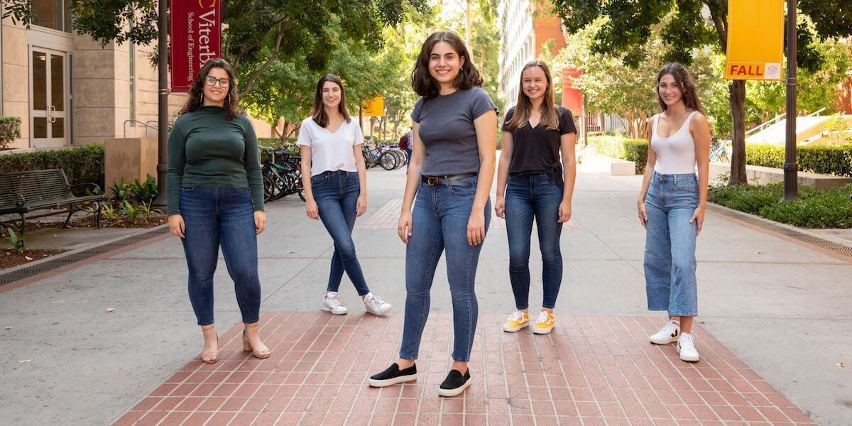 The Marlink team (Left to Right) Co founder Maria Camasmie, Co Founder Siena Applebaum, Co Founder Roxanna Pakkar, Co Founder Celeste Goodwin and Co Founder Sofia Tavella (Photo/Tracy + David Stills and Motion)