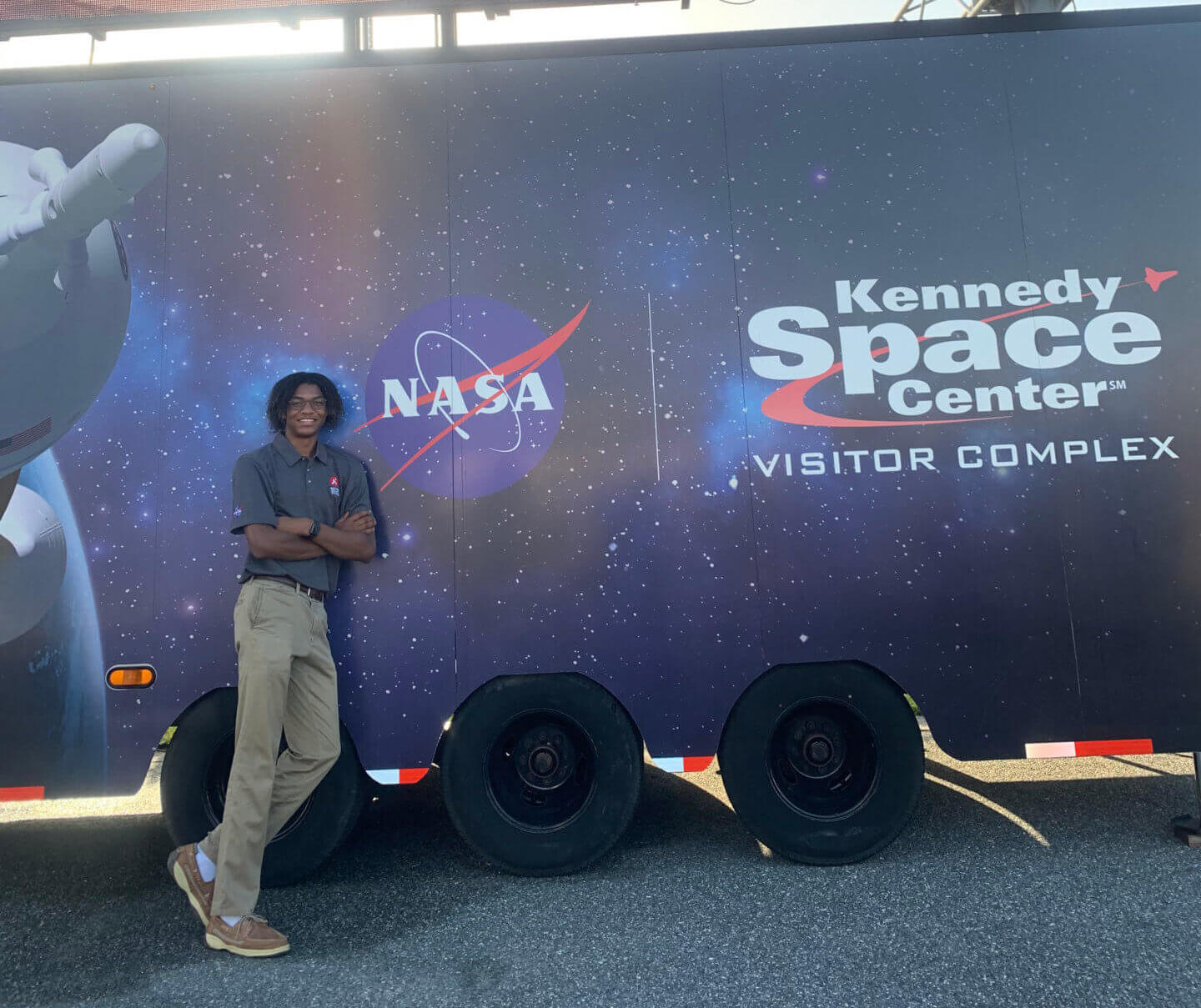 Devin Martin worked on the 2020 Mars Perseverance Rover and witnessed the launch in person from the Kennedy Space Station. Photo/Devin Martin.